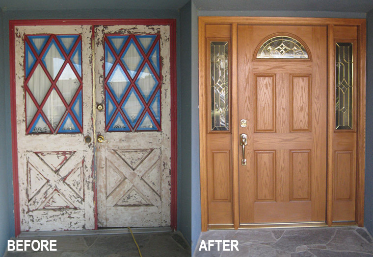front doors before and after